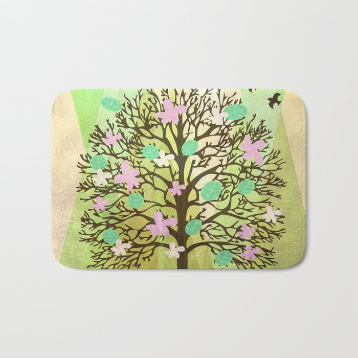 Spring Tree Bath Mat