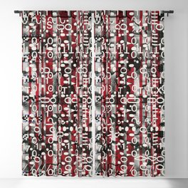 Linear Thinking Trip Switch (P/D3 Glitch Collage Studies) Blackout Curtain