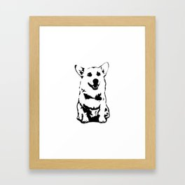 CORGI DOG Framed Art Print