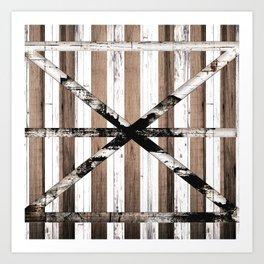 Rustic Multi Wood Barn Door Art Print