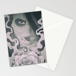 Black and White Catrina Stationery Cards