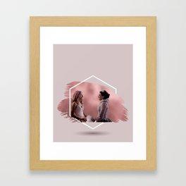 swan queen coronation Framed Art Print