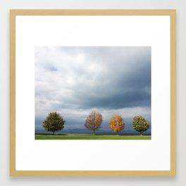 Lakeside in Vermont Framed Art Print