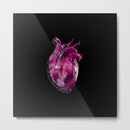 pink polygon heart Metal Print