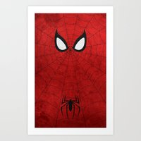 spider man Art Prints featuring Spider-Man by theLinC