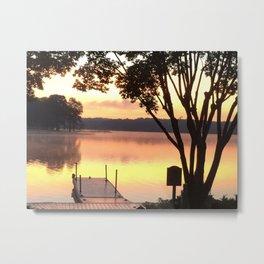 Dock at Sunrise Metal Print