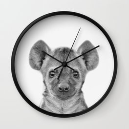 Baby Hyena Wall Clock
