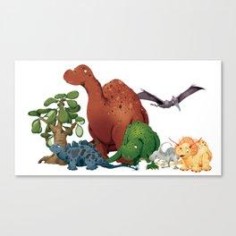 Dinosaur Party Canvas Print