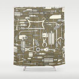fiendish incisions sage Shower Curtain
