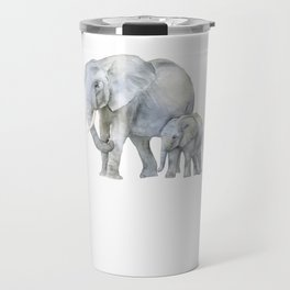 Mother and Baby Elephants Travel Mug