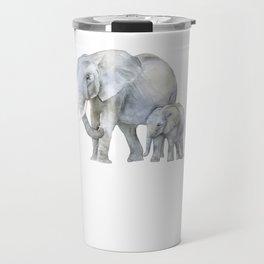 Mother and Baby Elephants Travel Mug