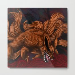 .:Kurama:. The Nine Tailed Fox Metal Print