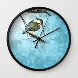 Watching the river Wall Clock
