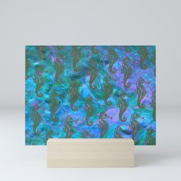 Aquatic Seahorses Mini Art Print