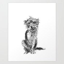 Poppy the Dog Art Print