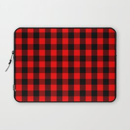 Classic Red and Black Buffalo Check Plaid Tartan Laptop Sleeve