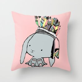 Indian Bunnie Throw Pillow