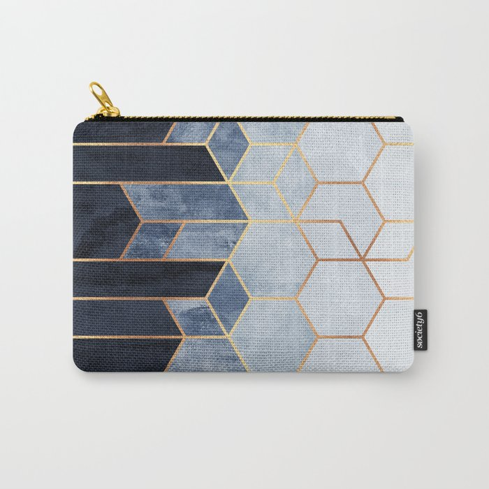 Soft Blue Hexagons Tasche