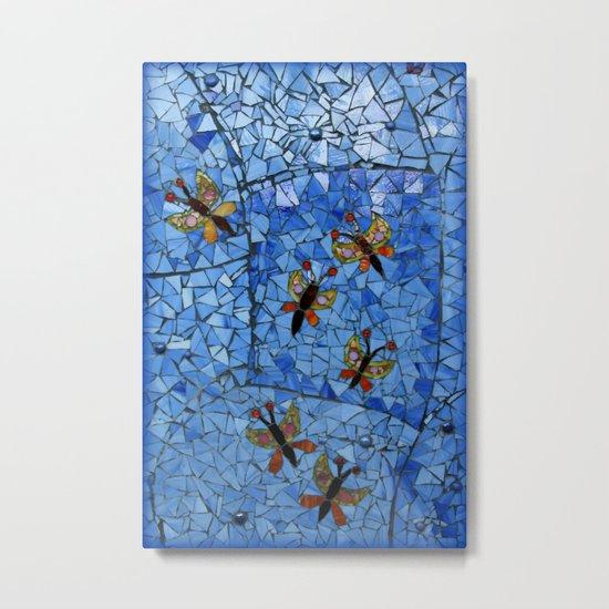 Butterfly Mosaic Metal Print
