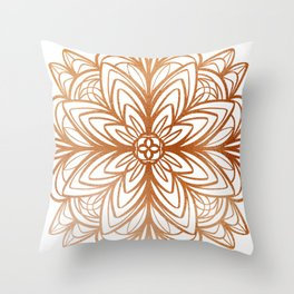 Mandala No.1 in Copper Throw Pillow