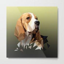 Beagle Hunting Dog Metal Print