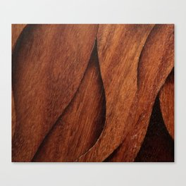 Beautiful Unique  brown wood inlay marquetry veneer design Canvas Print