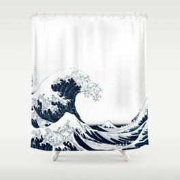 The Great Wave - Halftone Shower Curtain