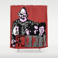 the goonies Shower Curtains featuring The Go-nies by Hoovers From Hell