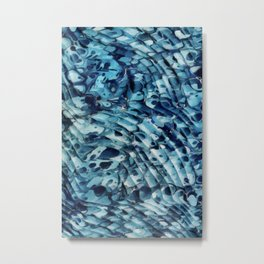 Blue marbling vintage Metal Print