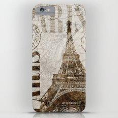 Vintage Paris eiffel tower illustration Slim Case iPhone 6 Plus