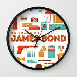 James Bond 50 Years  Wall Clock