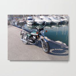 Classic Two Stroke Motorcycle Metal Print