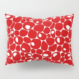 Abstract red pebble pattern Pillow Sham