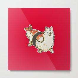 Alpaca Sushi Niguiri I Metal Print