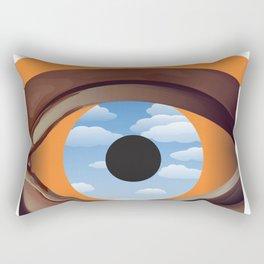 magritte's eye Rectangular Pillow
