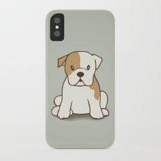 English Bulldog Illustration iPhone X Slim Case
