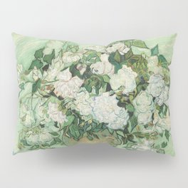 Vase With Pink Roses by Vincent Van Gogh Pillow Sham