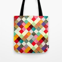 colorful Tote Bags featuring Pass this On by Danny Ivan