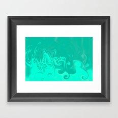 Ocean swirls Framed Art Print