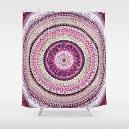 Pure Rose Mandala Shower Curtain