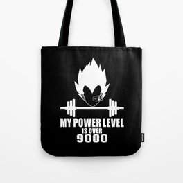 my power level is over 9000 Tote Bag