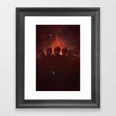 Danger Ahead Framed Art Print