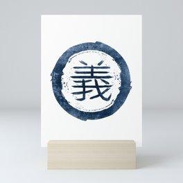 Eight virtues of Bushidō: 義 / Righteousness Mini Art Print