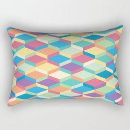 Colorful Squares Pattern Rectangular Pillow