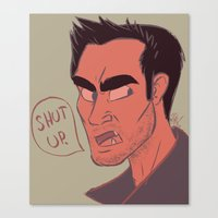 derek hale Canvas Prints featuring Derek by The Art of Nicole