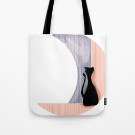 Cat and the Moon Tote Bag