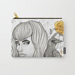 Goddess Morrigan Inktober 2016 Carry-All Pouch