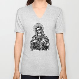 Mother Mary Unisex V-Neck