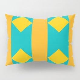 Pattern orange blue Pillow Sham