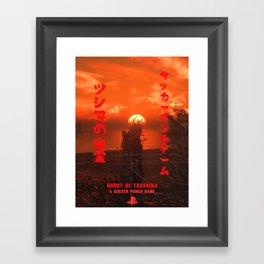 Ghost Of Tsushima, Samurai Sunset Poster Framed Art Print